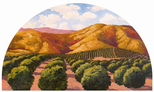 Orange Orchard Highlighting the Introduction of Citrus Fruits